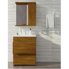 Mikola-M plastic set 2.0 Golden oak 2 drawers + right mirror 70 cm