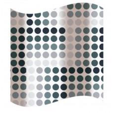 Blind for the bathroom, black and white circles  180 х 180 sm