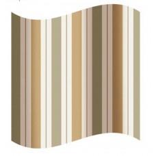 Blind for the bathroom brown stripe 180 х 180 sm