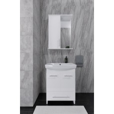 Mikola-M plastic set 2.0 with drawer and washbasin + mirror right 70 cm
