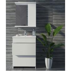 Mikola-M plastic set 2.0 with 2 drawers + mirror right 50 cm