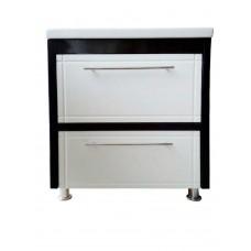 Curbstone  Mikola-M WENGE 2.0 drawers with washbasin CERSANIT COMO 70