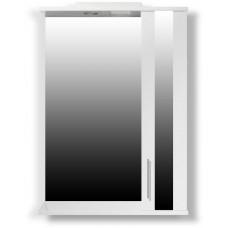 """The MIX mirror in the bath """"Themix-Minsk"""" 50 cm LED backlit"""