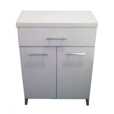 Chest plastic 2.0 gray with top drawer and doors 65
