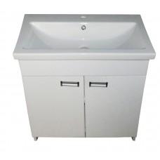 Mikola-M curbstone plastic 2.0 doors and internal shelf with Como 80 washbasin